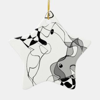 Meister und Margarita Keramik Ornament