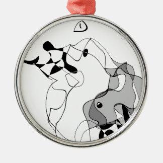 Meister und Margarita Silbernes Ornament