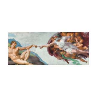 """Meisterwerk auf Leinwand - """"die Schaffung von Adam"""