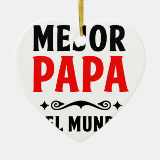 mejor Papa delmonico Keramik Ornament