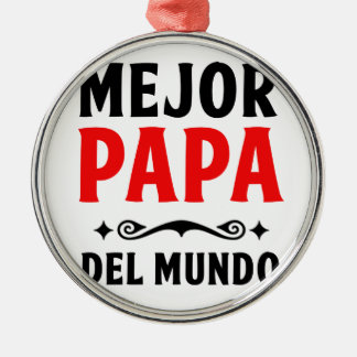 mejor Papa delmonico Silbernes Ornament