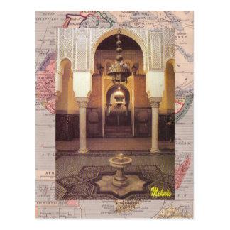 Meknes; Moschee Postkarten