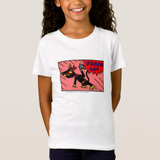 Mel NINJA CAT-Mädchen-Kappen-Hülsen-T - Shirt
