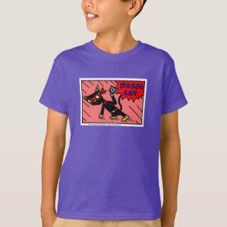 Mel NINJA CAT scherzt grundlegenden T - Shirt
