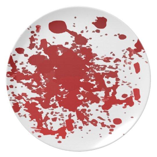 Melaminplatte Halloween-Blut-Spritzer Teller