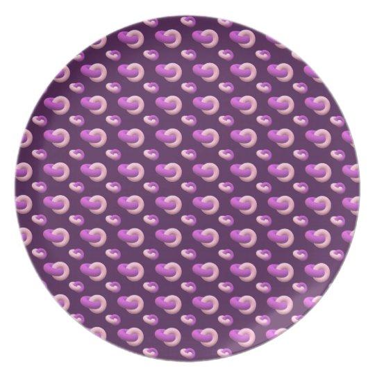 Melaminteller Donuts Aubergine