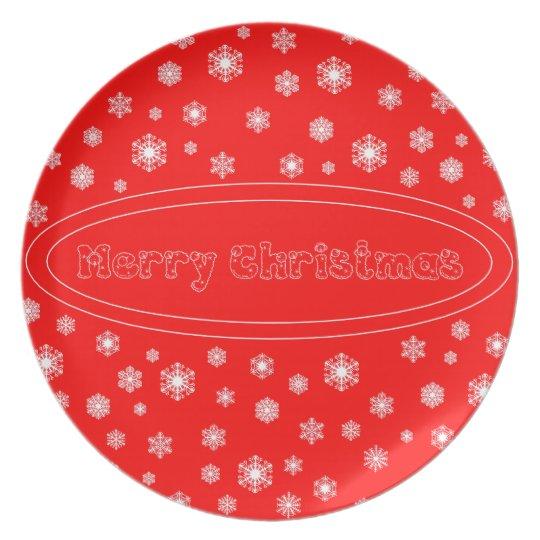 Melaminteller Merry Christmas