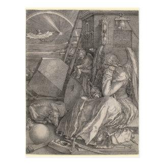 Melancholia I, gravierend durch Albrecht Durer Postkarte