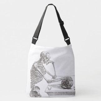 Melancholic Skeleton Querleichensack (groß) Tragetaschen Mit Langen Trägern