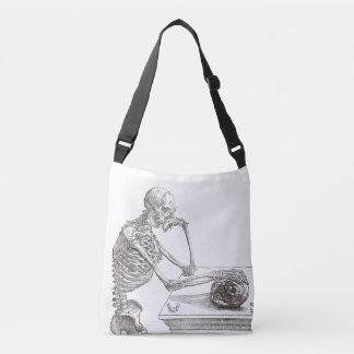 Melancholic Skeleton Querleichensack Tragetaschen Mit Langen Trägern
