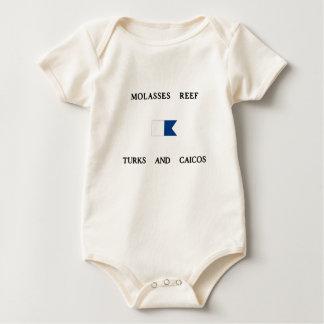 Melasse-Riff-Türken und Alphatauchen-Flagge Caicos Baby Strampler