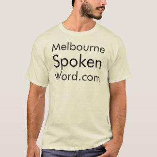 Melbourne gesprochenes Word.com-T-Stück T-Shirt