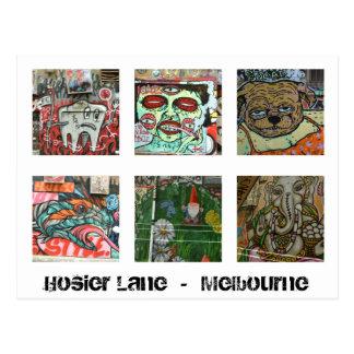 Melbourne-Graffiti-städtischer Postkarte