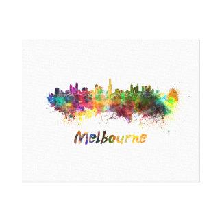 Melbourne skyline im Watercolor Leinwanddruck