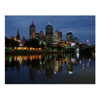 Melbourne-Skyline Postkarte