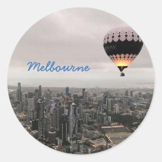 Melbourne-Skyline Runder Aufkleber