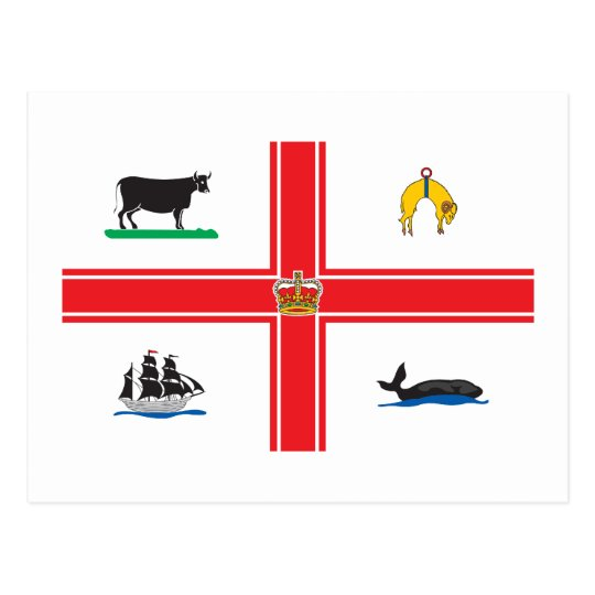 Melbourne-Stadt-Flagge Postkarte