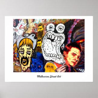 Melbourne-Straßen-Kunst-/Graffitiplakat Poster