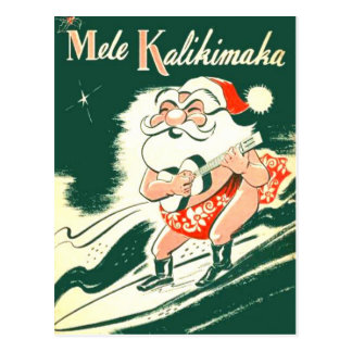 Mele Kalikimaka A sehr frohe Weihnacht-Postkarte Postkarten