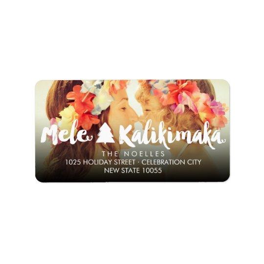 Mele Kalikimaka Adress Aufkleber