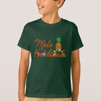 Mele Kalikimaka Hawaiianer-Ananas T-Shirt