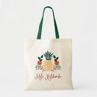Mele Kalikimaka | hawaiische Weihnachtsananas Tragetasche