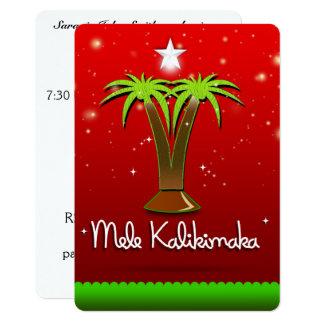 Mele Kalikimaka Palme für Weihnachten Karte