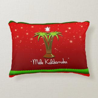 Mele Kalikimaka Palme für Weihnachten Zierkissen