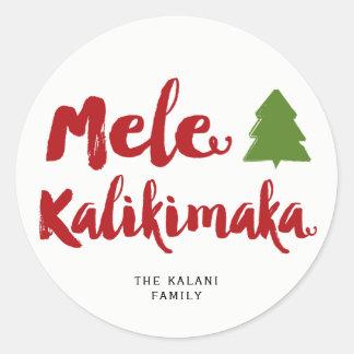 Mele Kalikimaka Runder Aufkleber