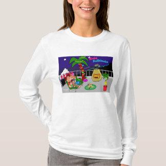 Mele Kalikimaka Stadt beleuchtet Damen-T - Shirt