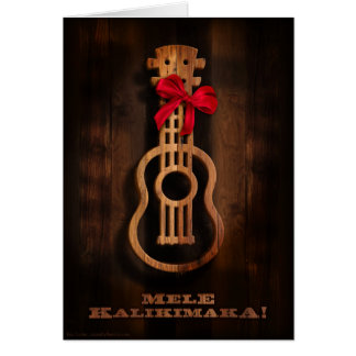 Mele Kalikimaka! Ukulele-Weihnachtskarte Karte