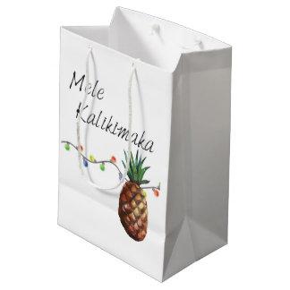 Mele Kalikimaka - Weihnachtsgeschenk-Tasche Mittlere Geschenktüte