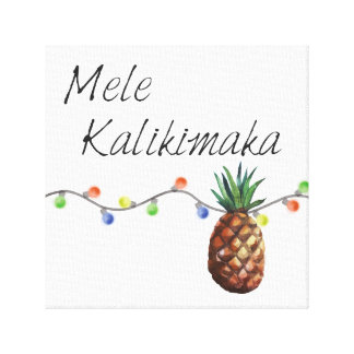 Mele Kalikimaka - WeihnachtsLeinwand-Druck Leinwanddruck