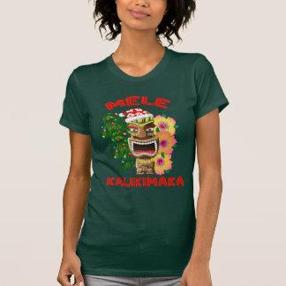 Mele Kalikimaka Weihnachtsmann Tiki T-Shirt