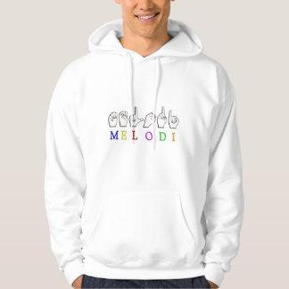 MELODI FINGERSPELLED ASL NAMENSzeichen Hoodie