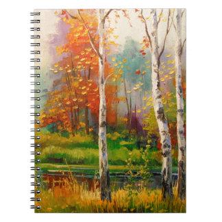 Melodie des Herbstes Notizblock