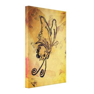 Melodien-Schmetterling - Leinwand