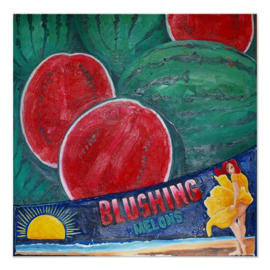 Melon Blushing Poster