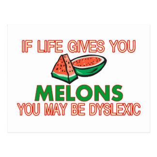 Melone-Dyslexie Postkarte
