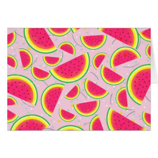 Melone-Fiesta-Muster Karte