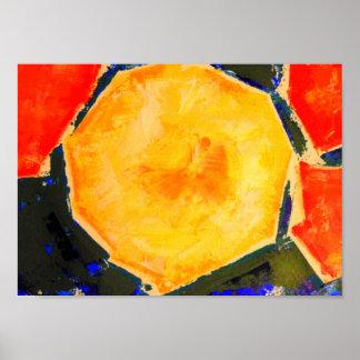 Melone-moderner Stillleben-Kunst-Druck Poster