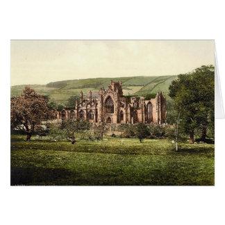 Melrose-Abtei, Schottland-Anmerkungs-Karte Karte