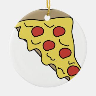 Melty Pizza Keramik Ornament
