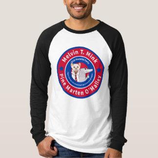 Melvin T. Mink Baseball-Shirt die Langhülse Männer T-Shirt