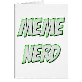 Meme Nerd-Grün Karten