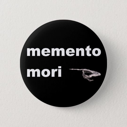 memento mori runder button 5,7 cm