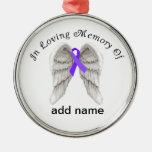 Memorial Christmas Ornament Pancreatic Cancer