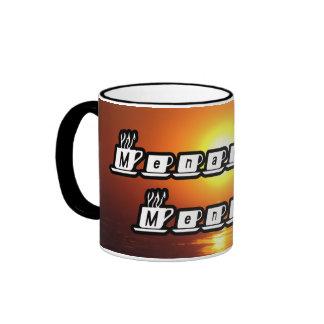 Menachem Mendel - am Sonnenuntergang Kaffeetasse