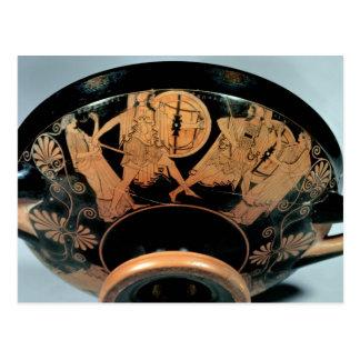 Menelaos, begleitet von der Aphrodite Postkarte