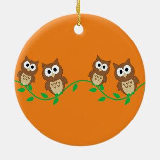 Menge der Eulen Keramik Ornament